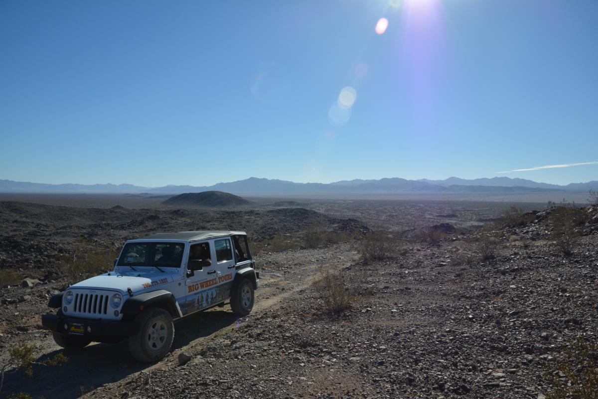 A Big Wheel Tours jeep in Joshua Tree National Park.