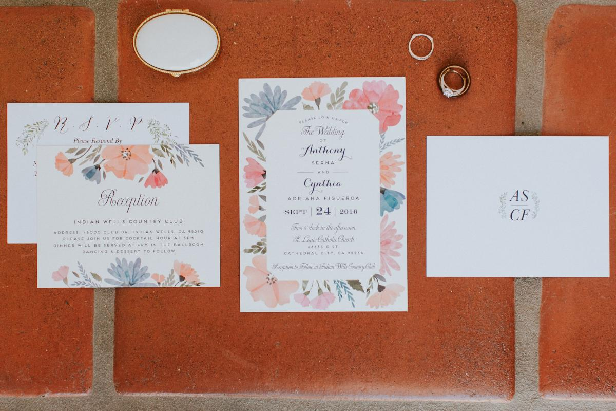 Palm Springs Wedding Invitations