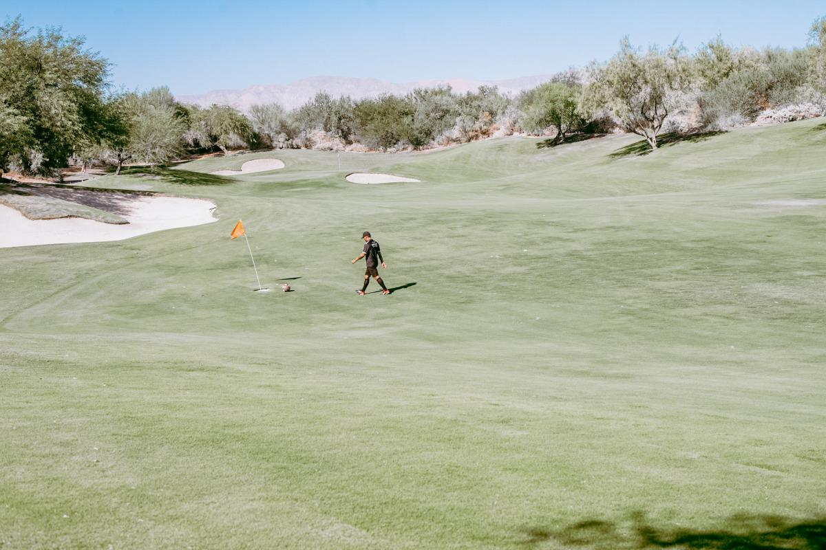 Footgolf at Desert Willow Resort