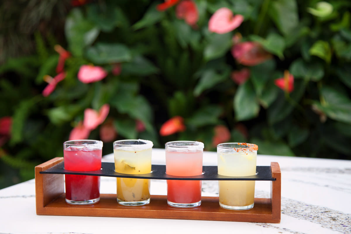 margarita flight at tac quila palm springs