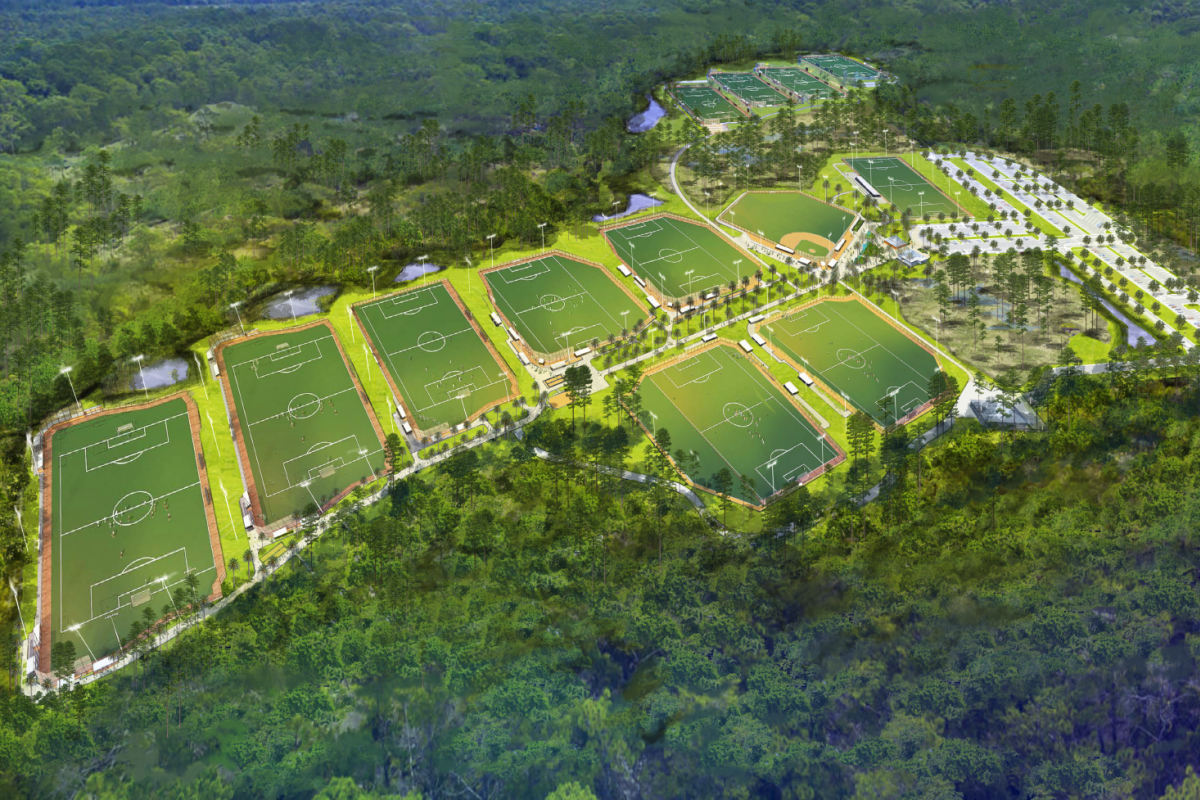 Soccer view PCB Sports Complex