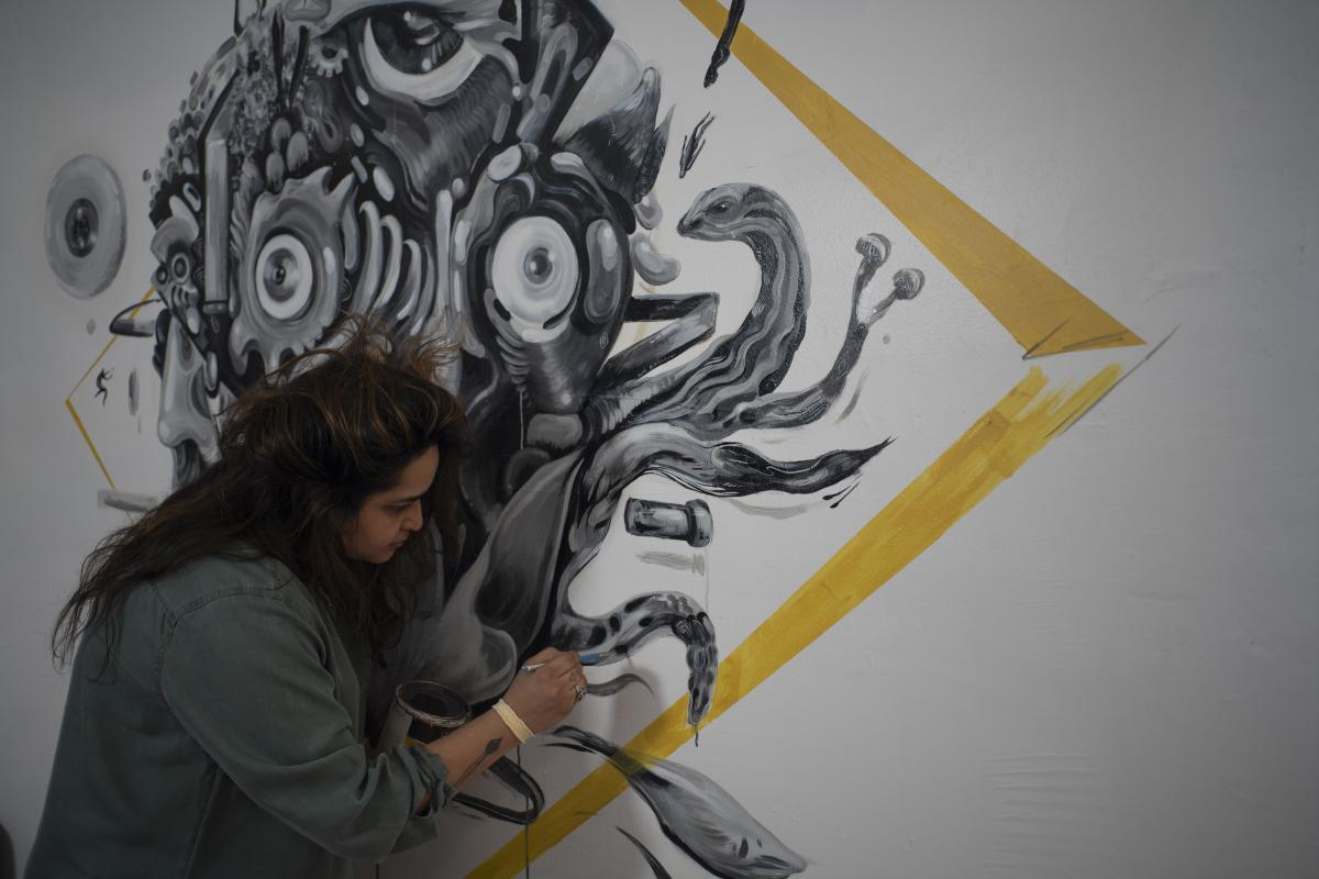 Ashley Macias Mural at Studio