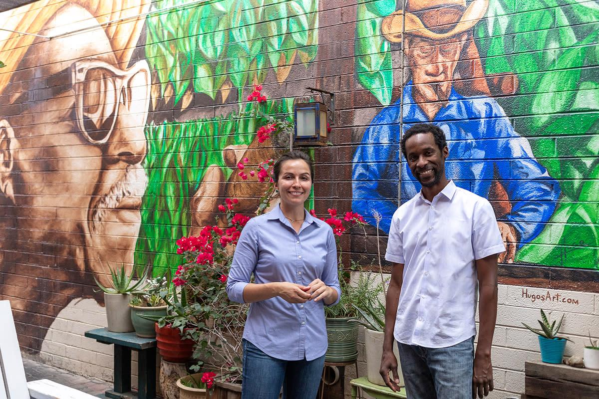 Danielle Leoni and Dwayne Allen of The Breadfruit