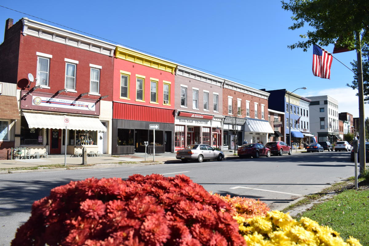 Honesdale during the Fall in the Pocono Mountains