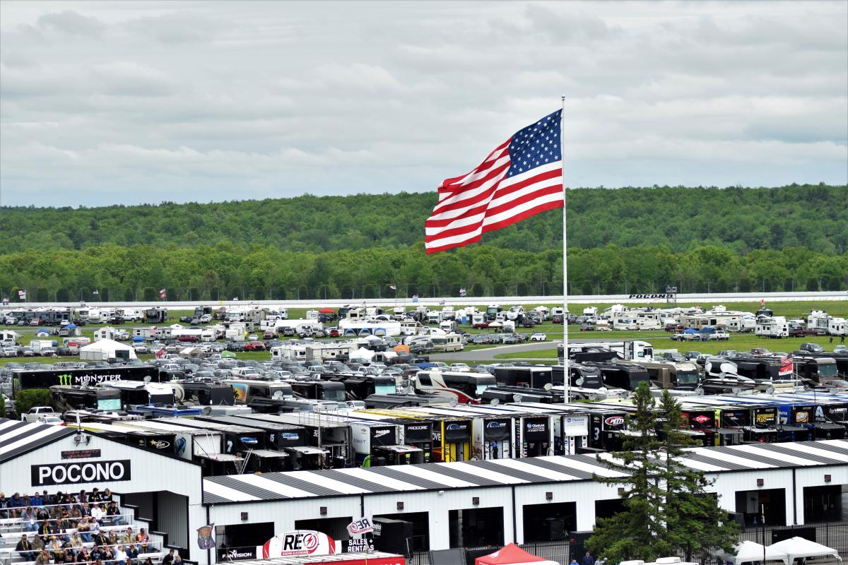 Camping at Pocono Raceway comes with ultimate perks