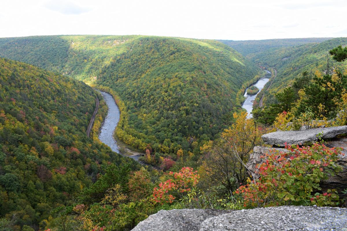 Scenic View of Tank Hollow in the Pocono Mountains