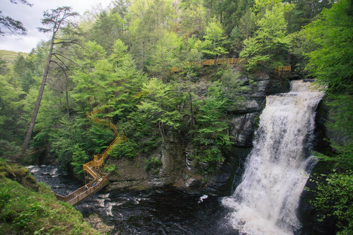 Bushkill Falls in the Pocono Mountains