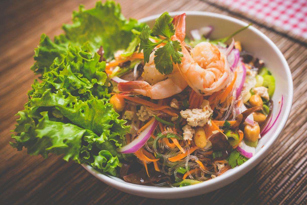 Shrimp dish from Bann Thai