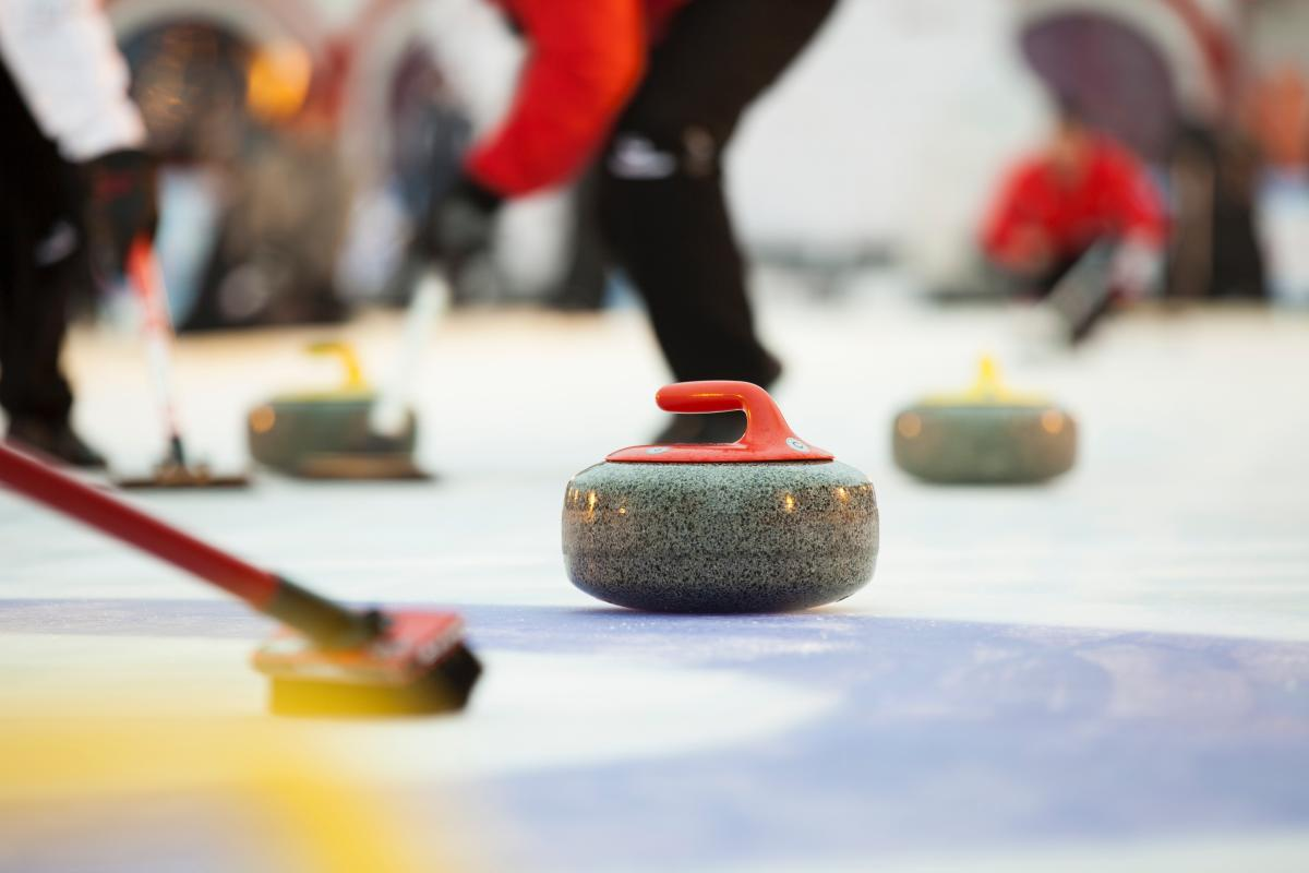 Curling at ice rink