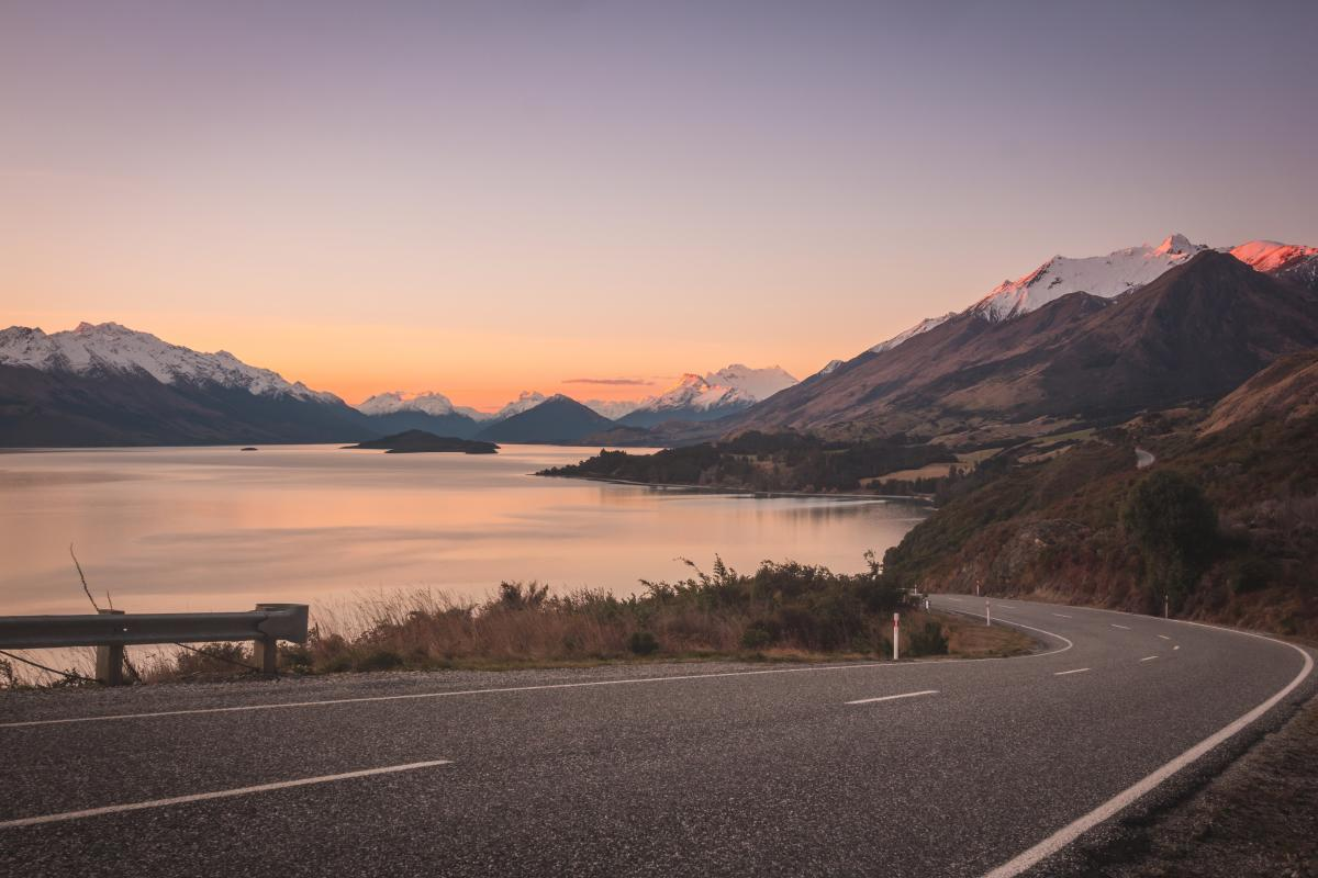Bennett's Bluff Sunset on the road to Glenorchy