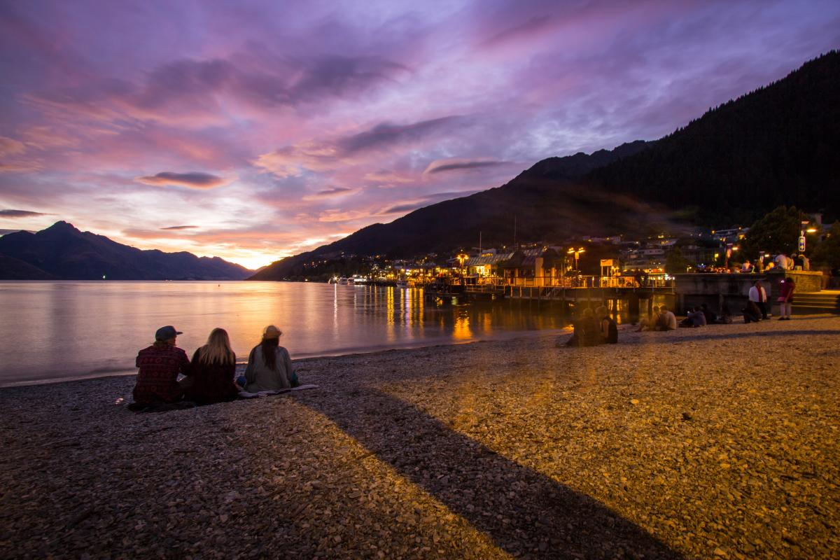 Queenstown Beach Sunset by the Lakefront