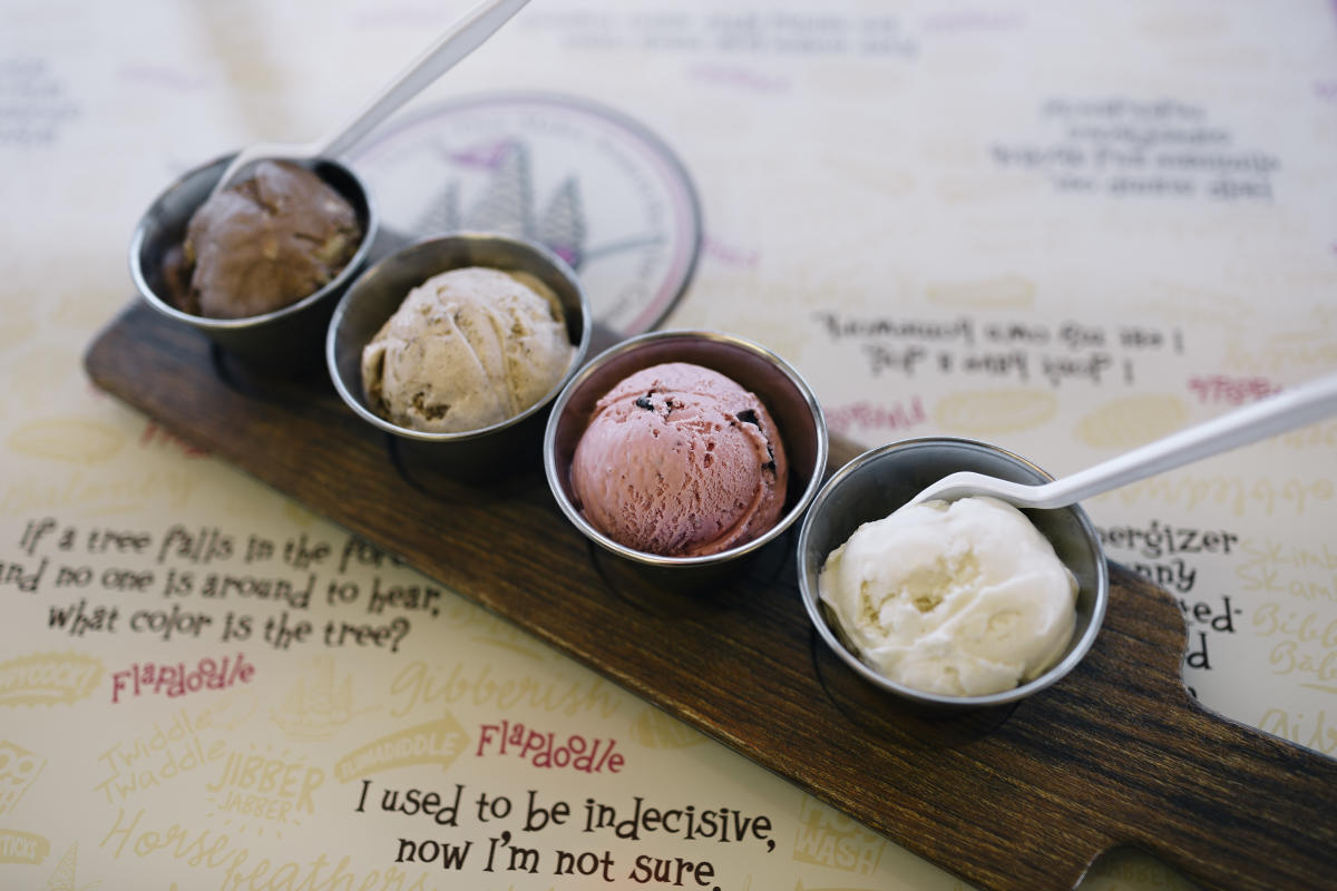 Ice Cream Flight at Flapdoodles
