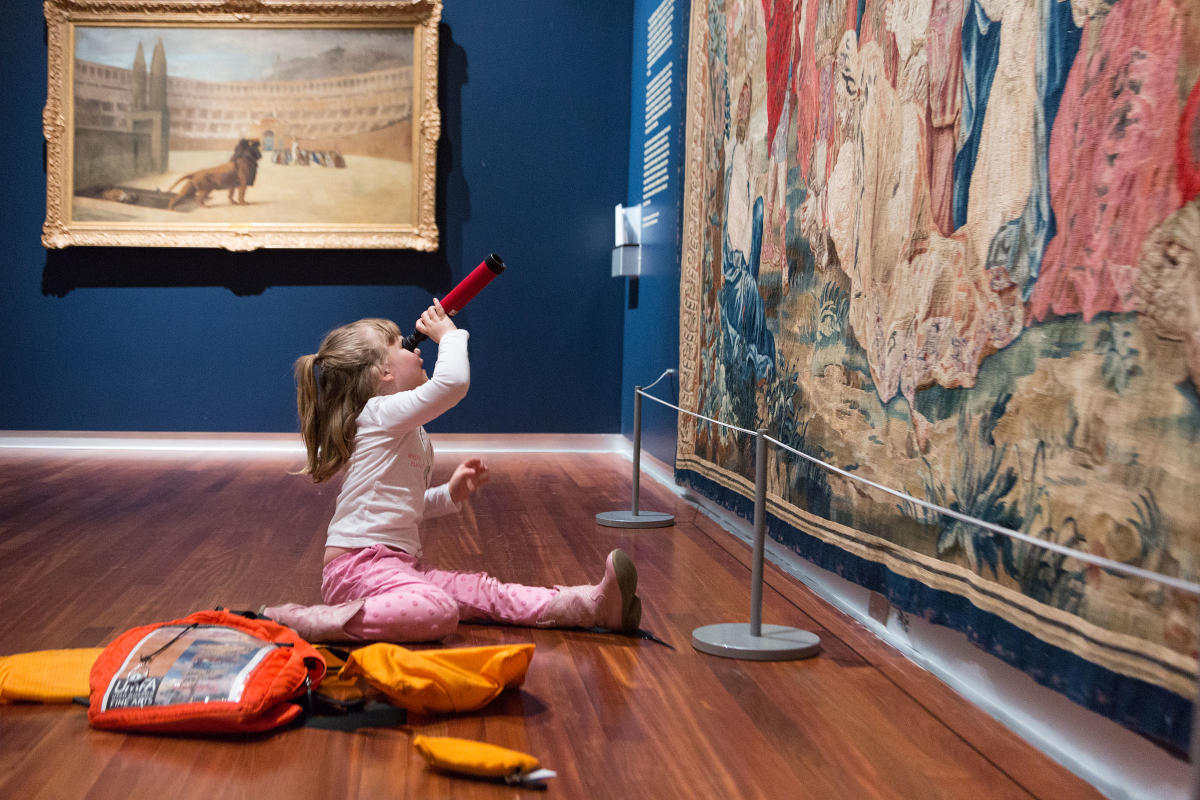 Your little ones will love exploring art with the Family Backpack program