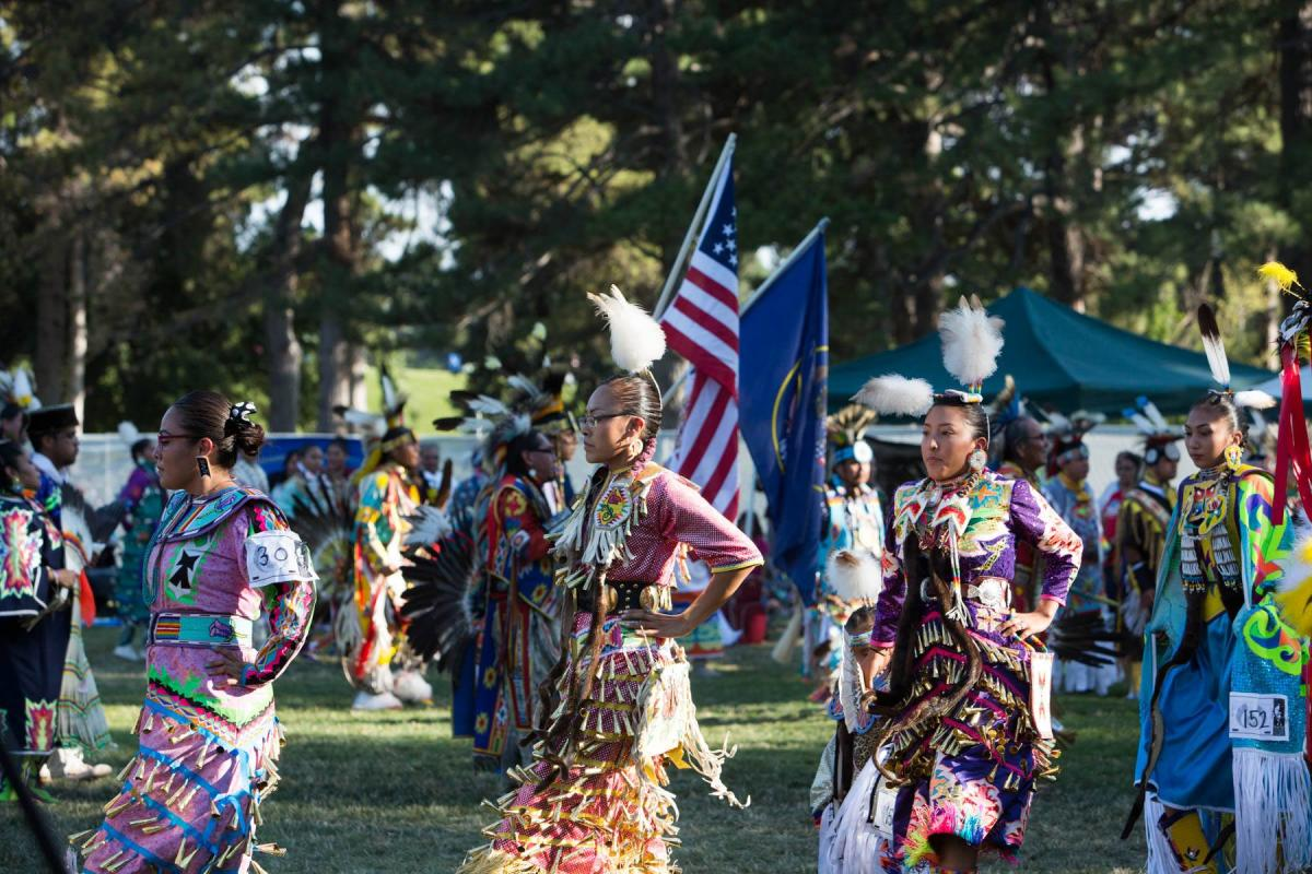 Native American Women Dancing at the Annual  Native American Celebration in Liberty Park