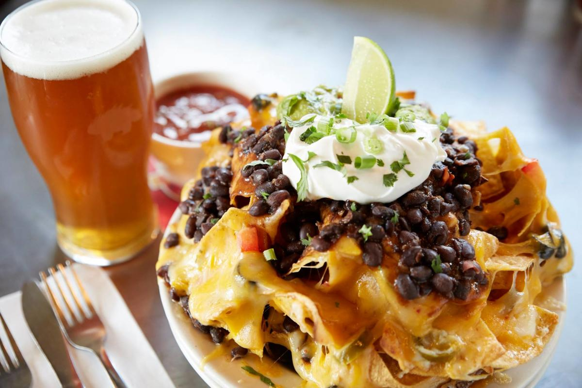 Nachos and Beer at Porcupine Pub & Grille