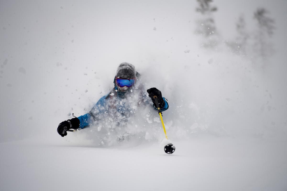 Skiing Powder at Alta