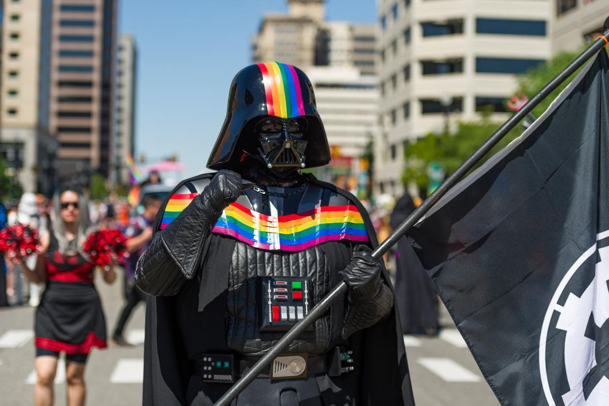 Darth Vader at the Utah Pride Parade