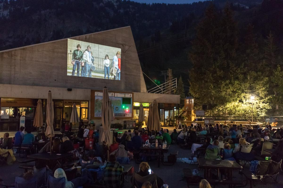 Family Flicks on the Plaza Deck at Snowbird