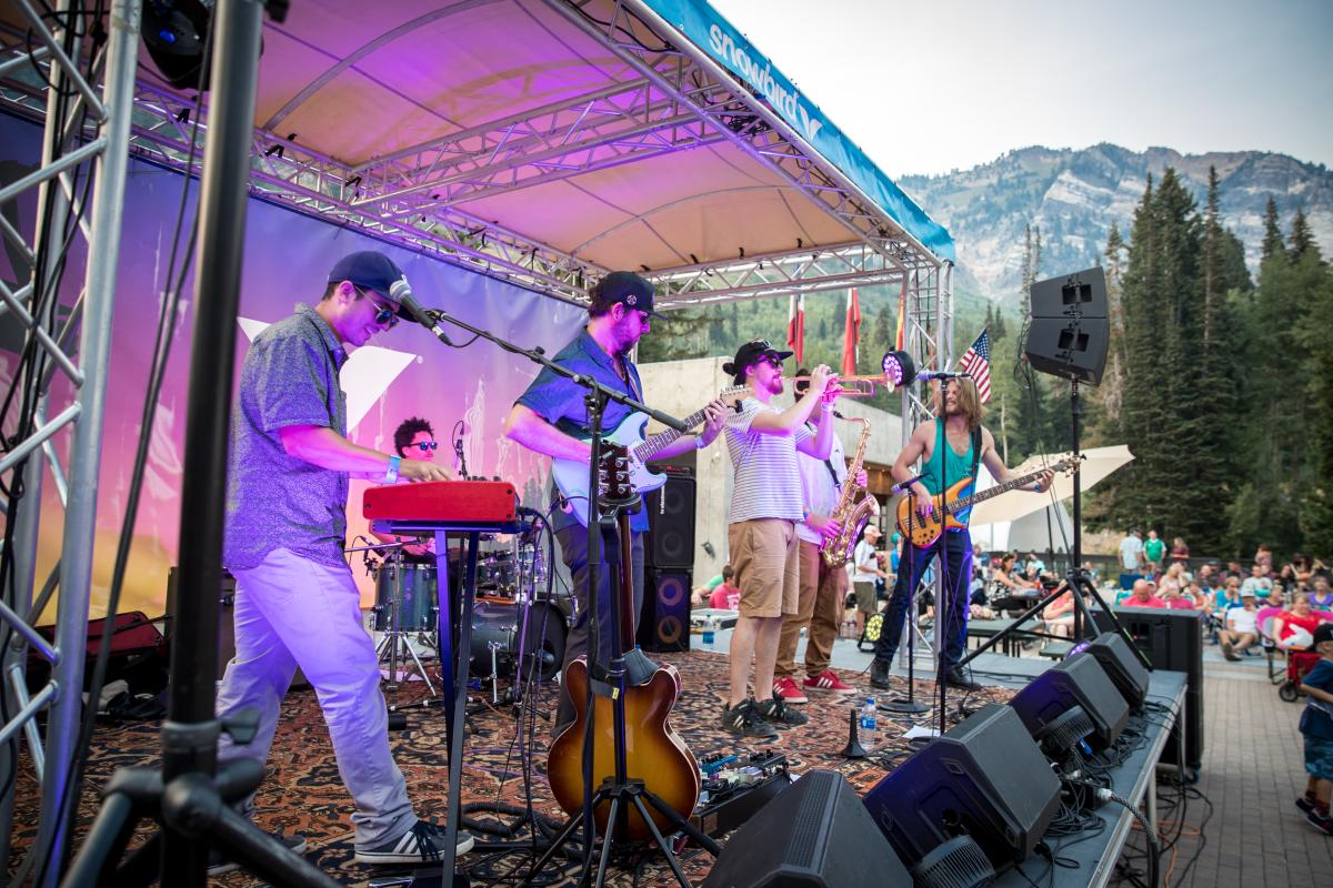 Big Blue Ox playing the Cool Air Concert Series at Snowbird