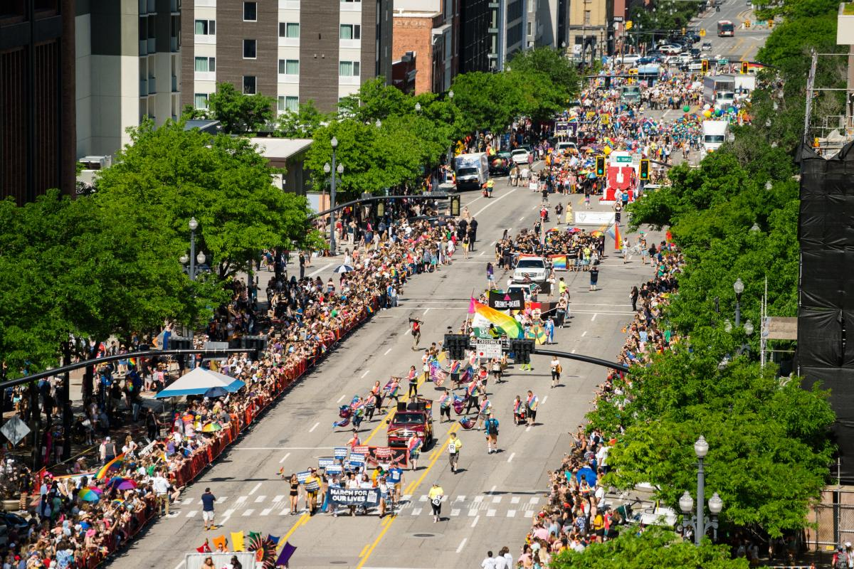 The Utah Pride Festival is attended by more than 50,000 people and continues to grow each year