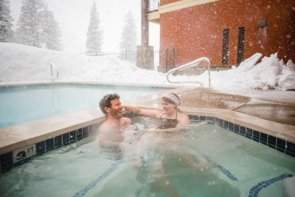 The hot tubs at Solutide are even better when it snows