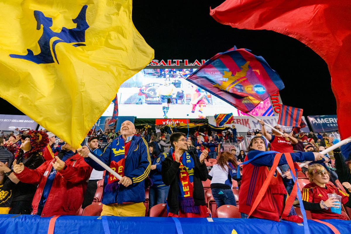 Fans at a REAL Salt Lake Game