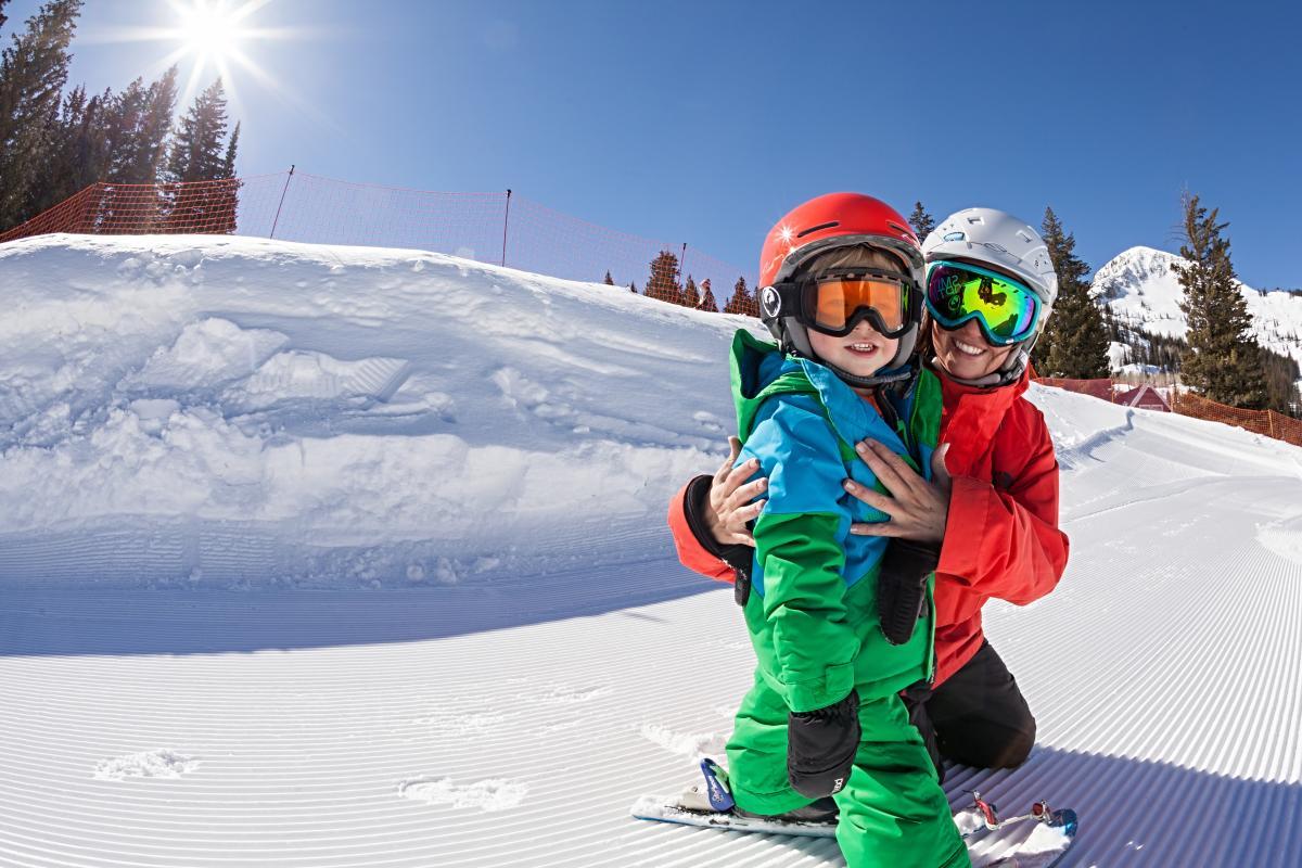 Kid at Ski School at Brighton