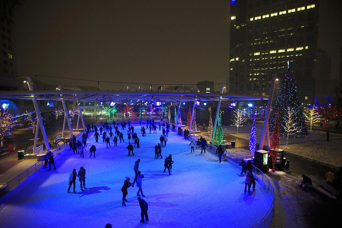 Ice Rink at The Gallivan Center