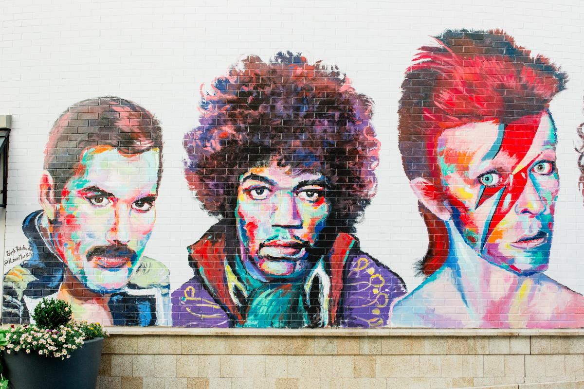 Rock Legends Mural at The Gateway