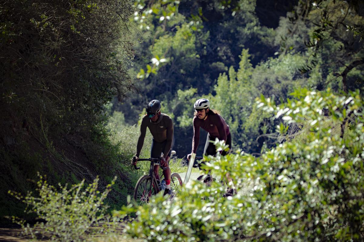 Biking along Highway 1