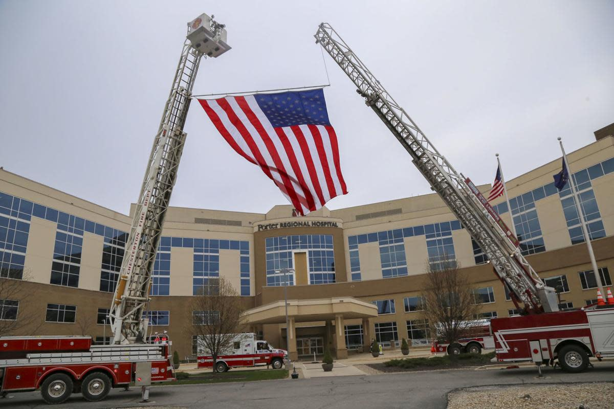 Firefighters pay tribute