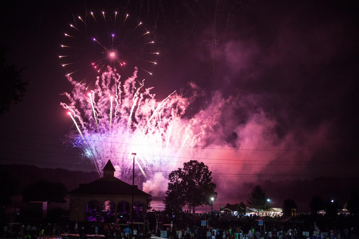 Riverfest Fireworks in St Charles