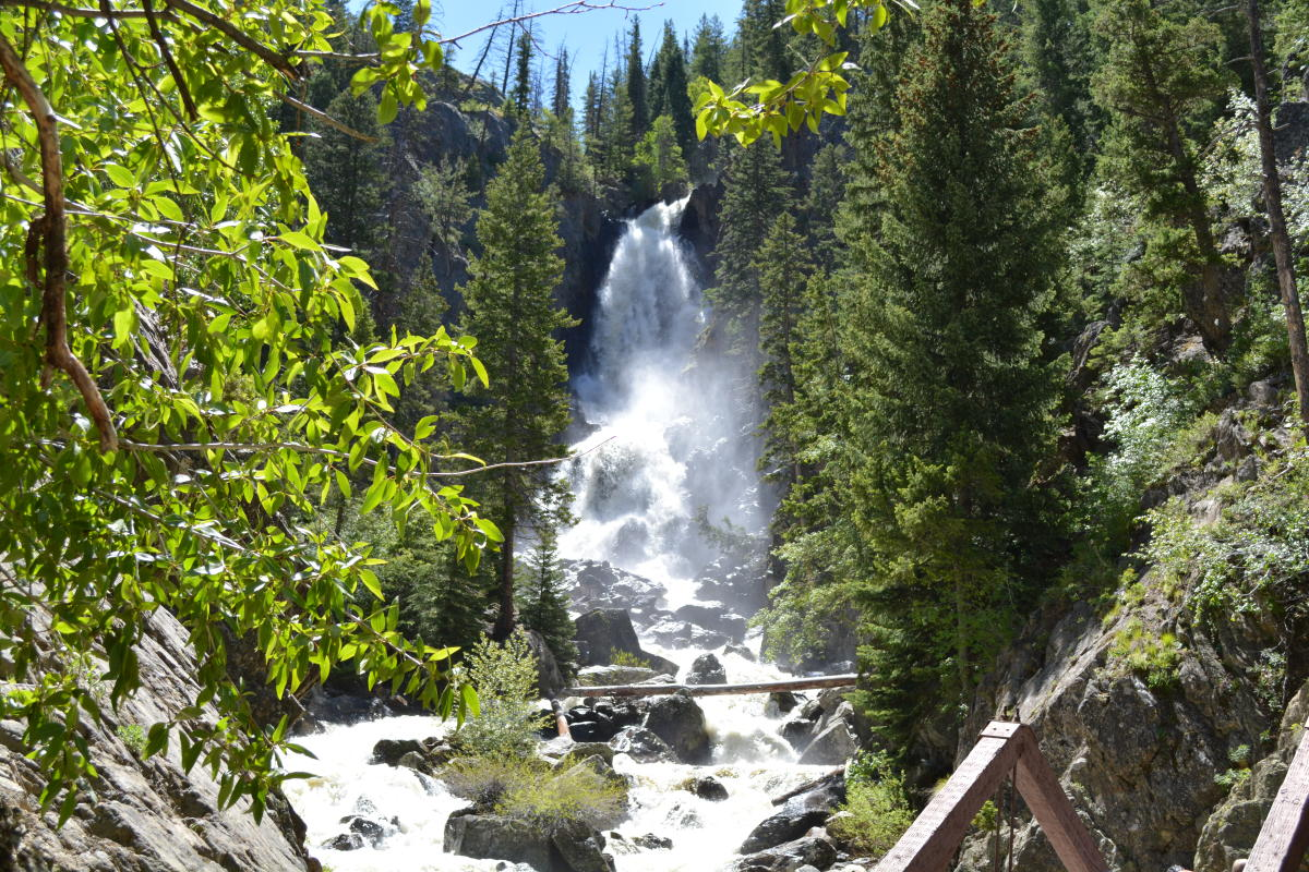 Fish Creek Falls rages outside of Steamboat Springs in the summer time
