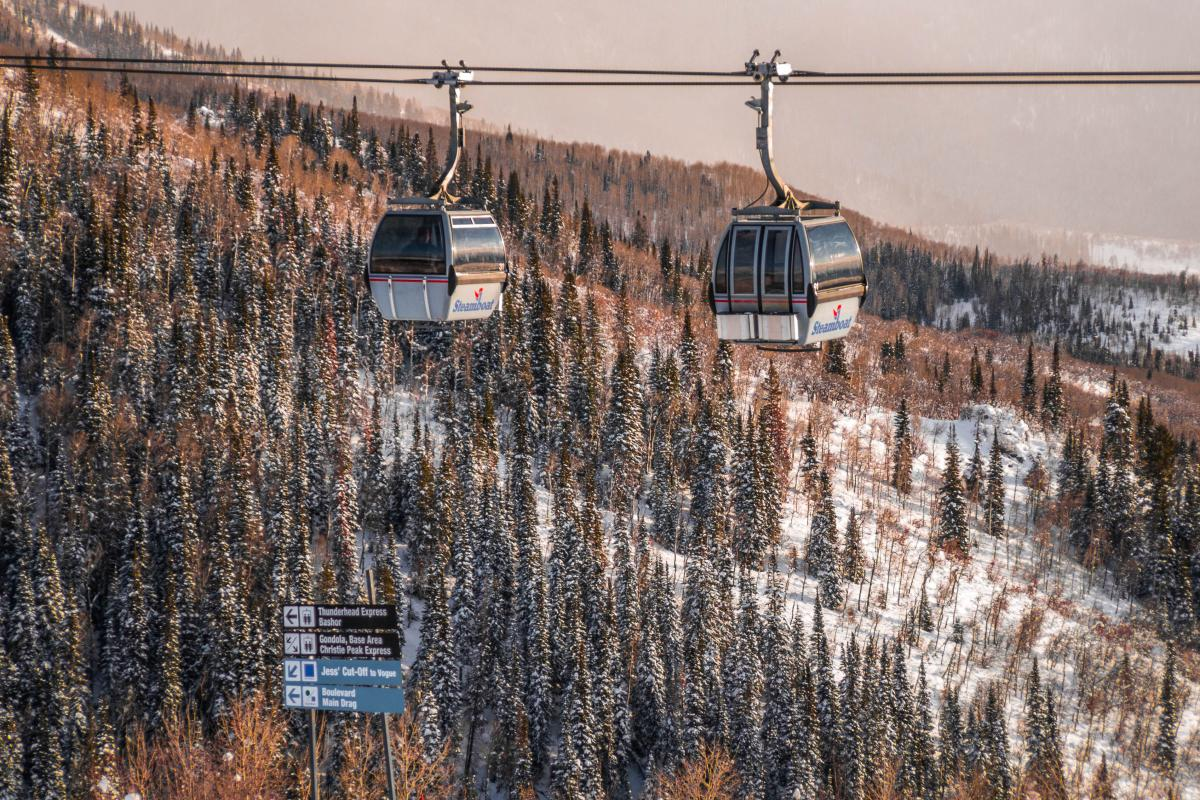 Ride the scenic gondola at Steamboat Resorts