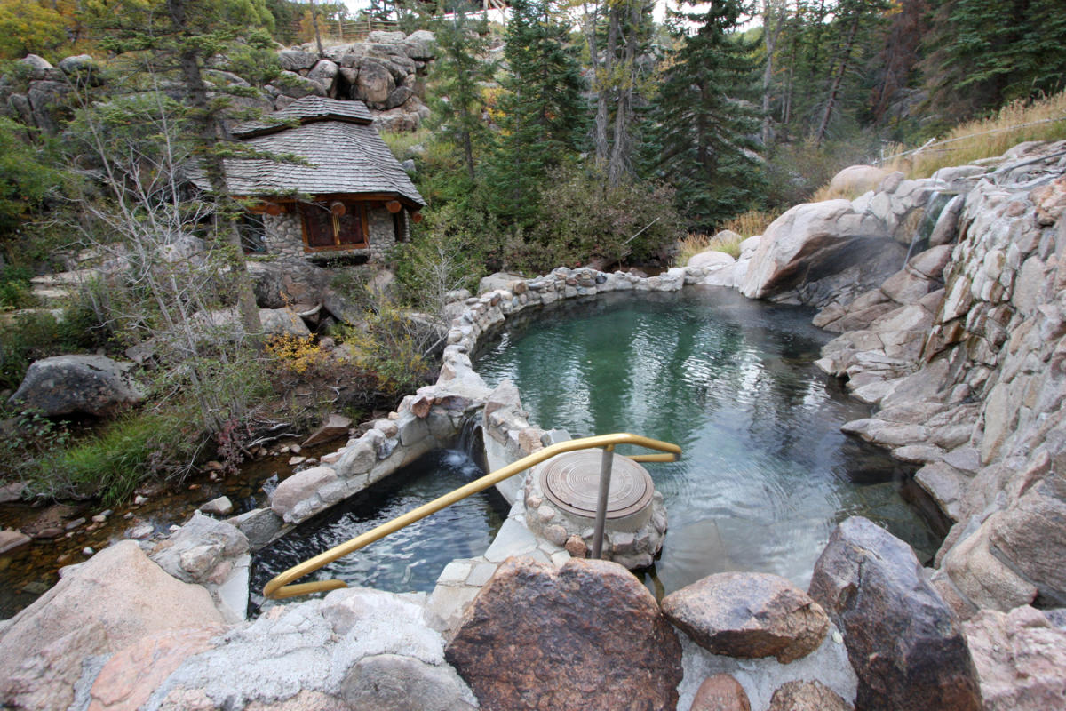 Strawberry Park Hot Springs is located outside of Steamboat Springs, Colorado
