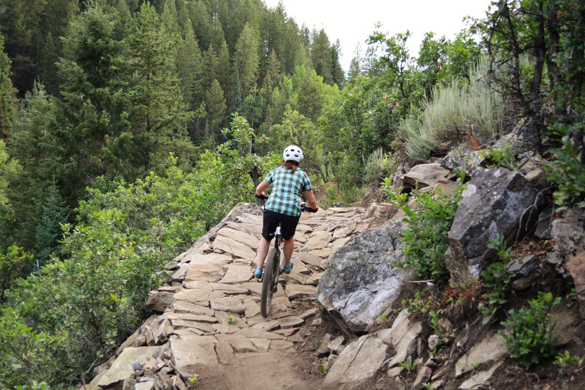 Riders enjoy the new downhill version of Spring Creek Trail on Buffalo Pass