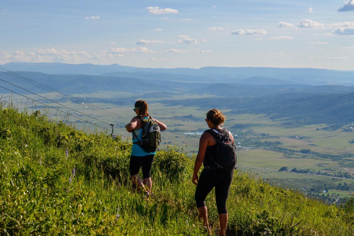 Hiking Thunderhead Trial on Steamboat Resort