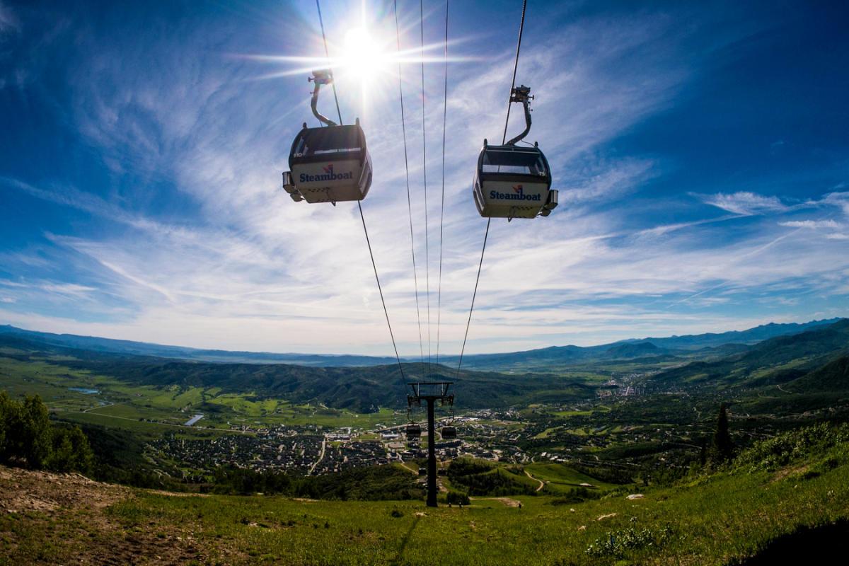 Scenic gondola rides at Steamboat Resort