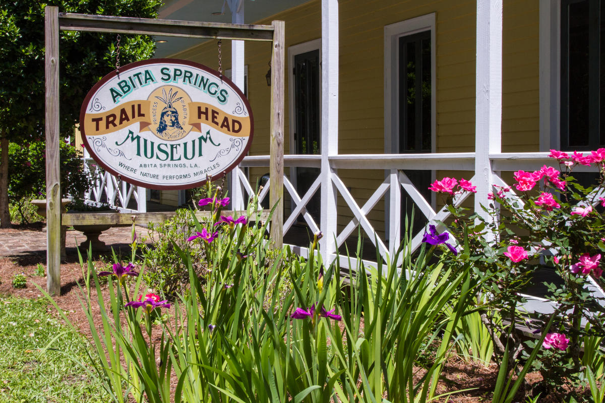 Abita Springs Trailhead Museum Sign