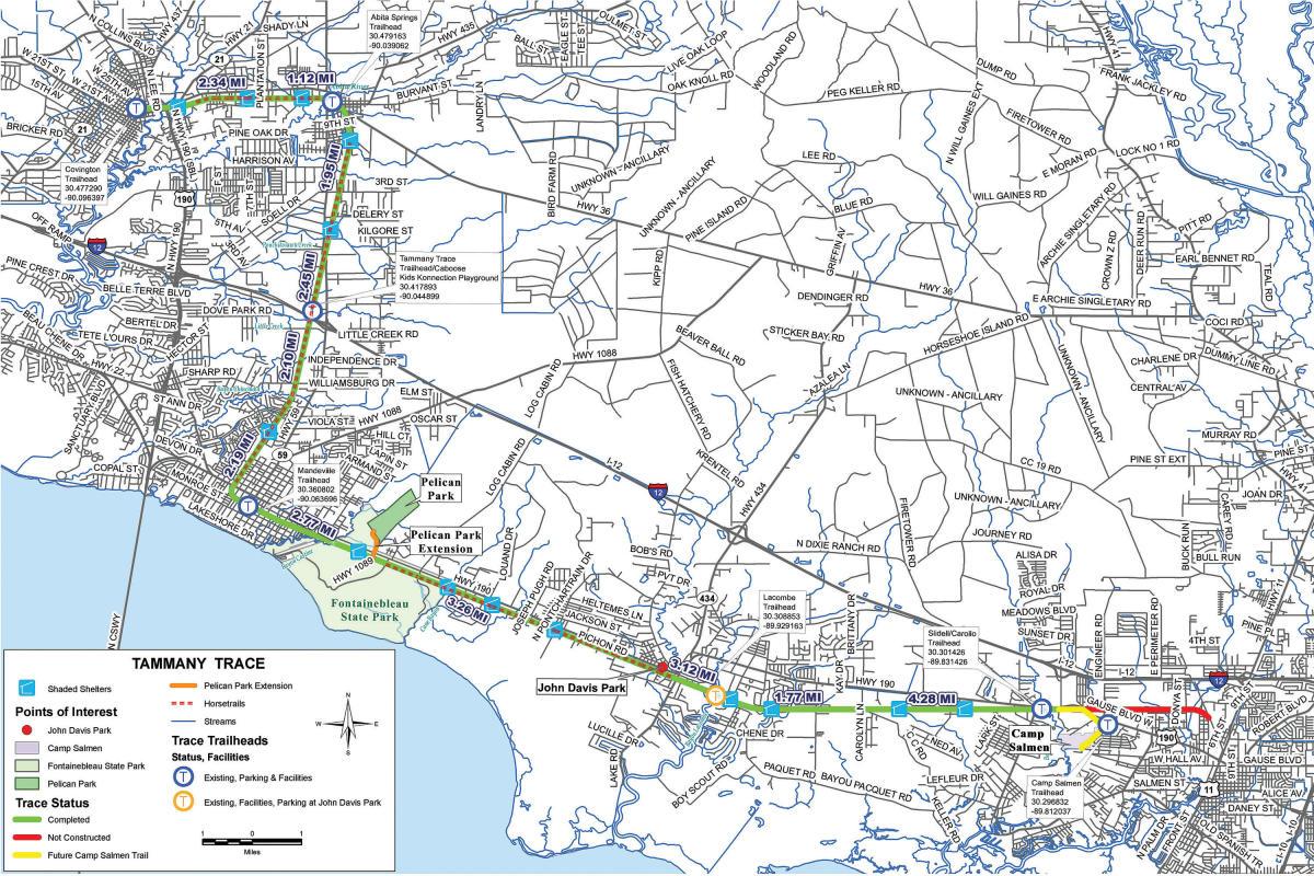 Tammany Trace Map