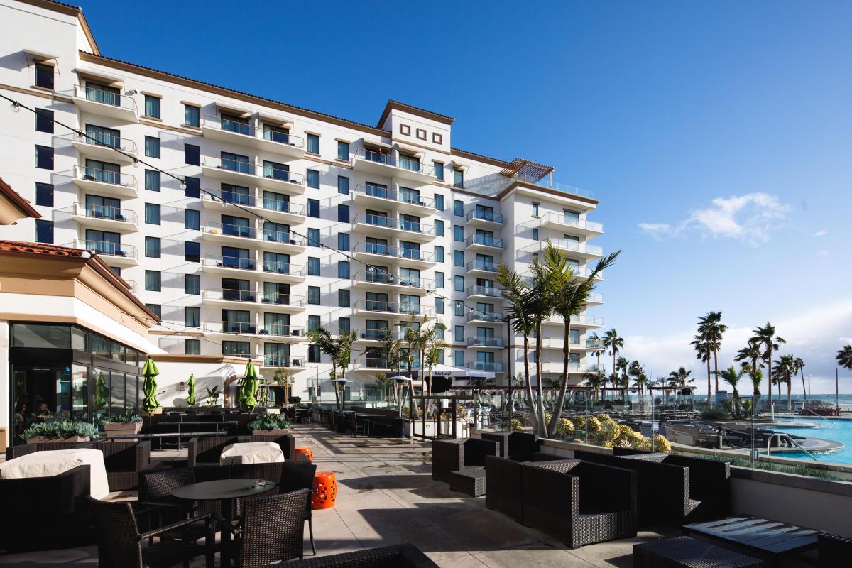 The Boardwalk Restaurant in The Waterfront Beach Resort, a Hilton Hotel