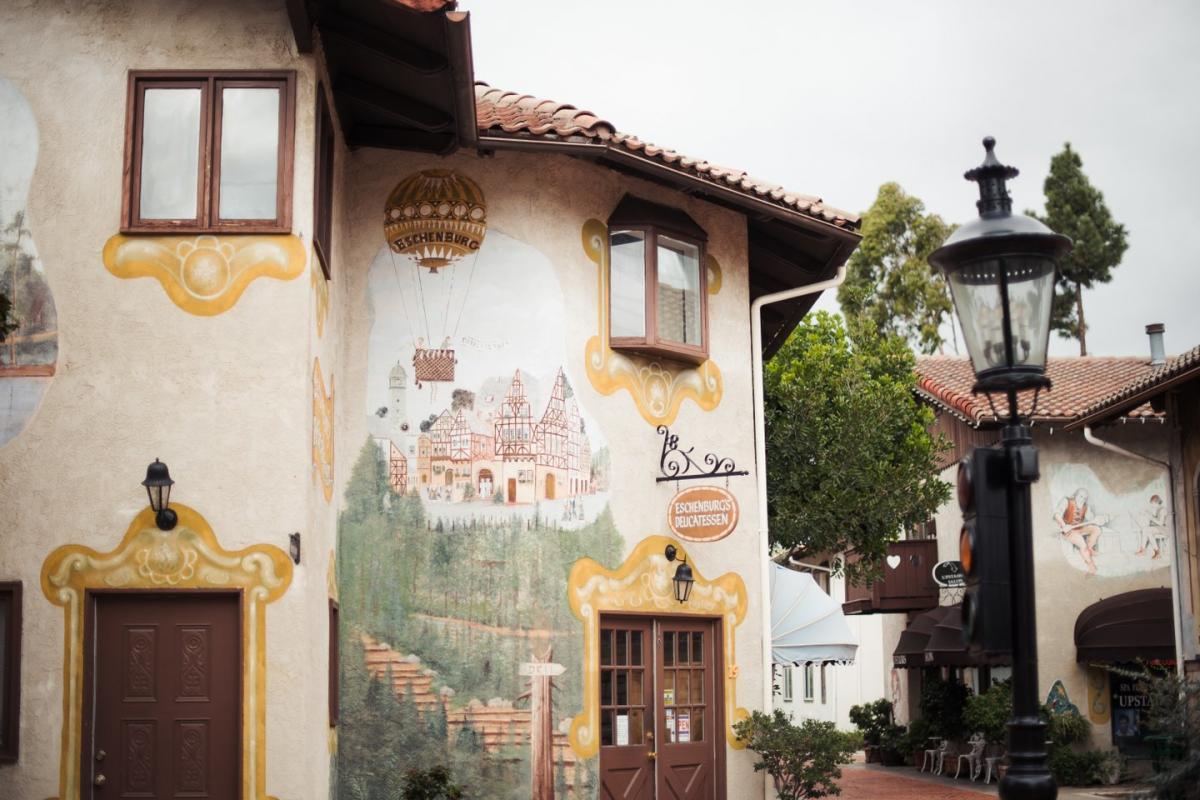Old World Village in Huntington Beach, California