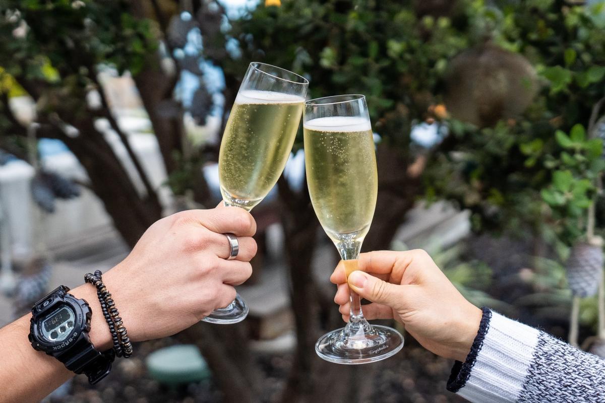Champagne toast at Kimpton Shorebreak in Huntington Beach