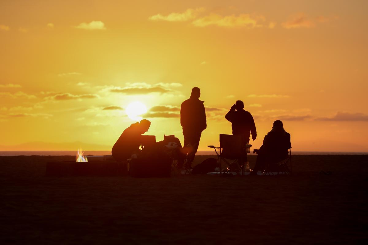 Beach Bonfires in Huntington Beach