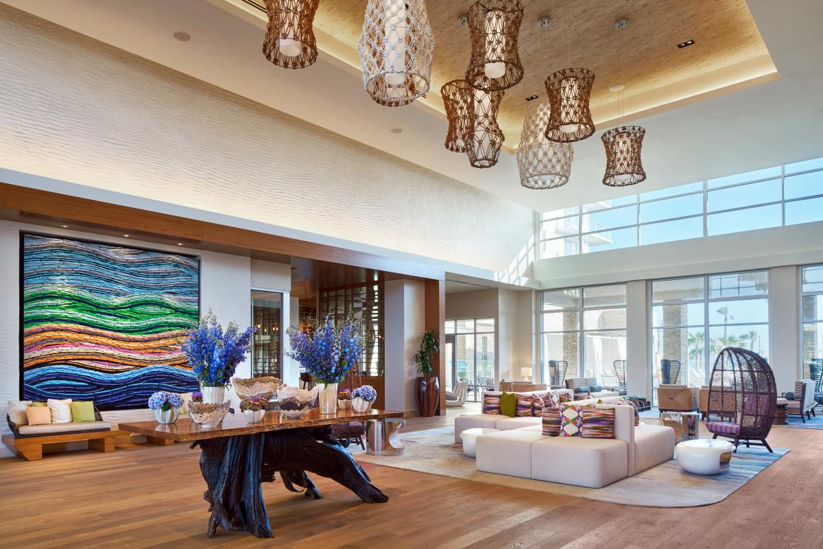 Pasea Hotel & Spa Lobby in Huntington Beach