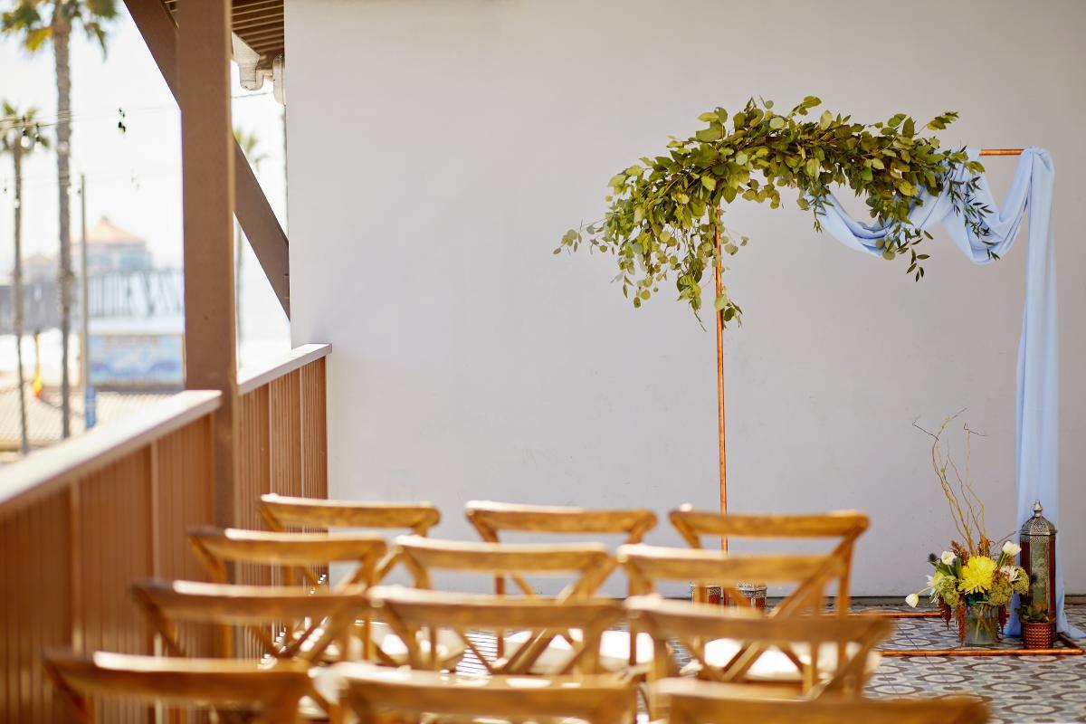 Wedding venue at the Kimpton Shorebreak Resort in Huntington Beach