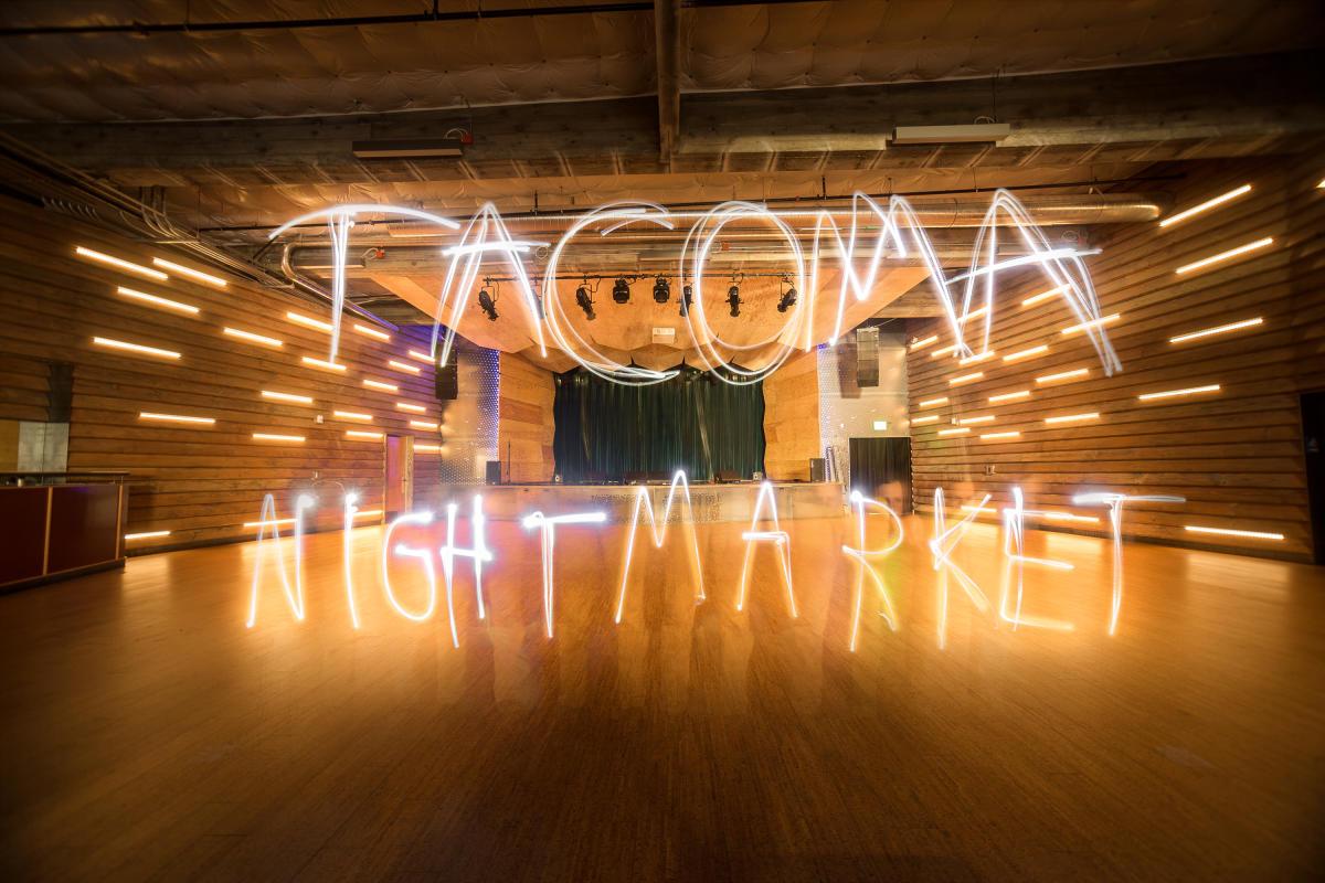 Tacoma Night Market sign