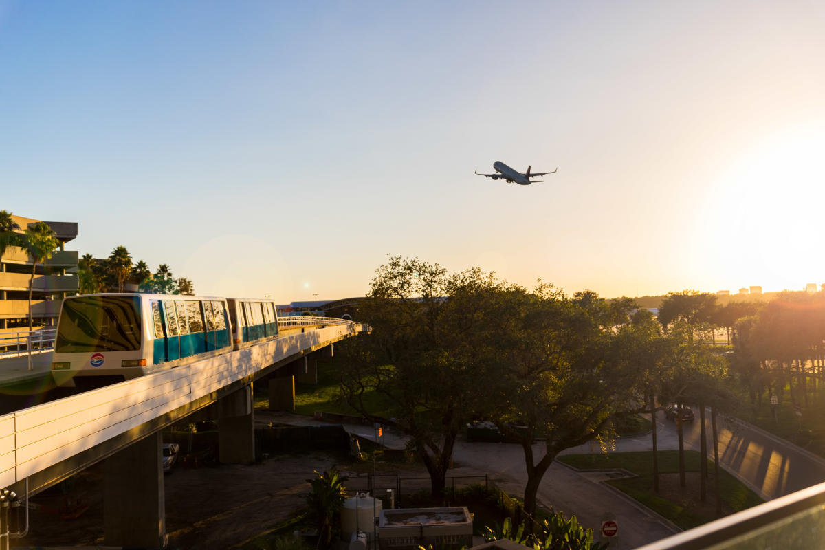 Tampa International Airport flight taking off