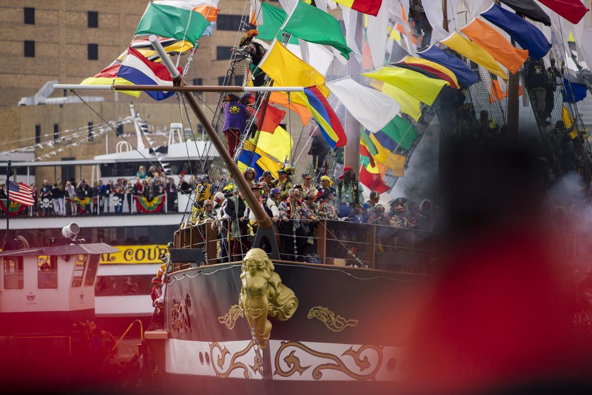 Gasparilla Pirate Ship Invasion