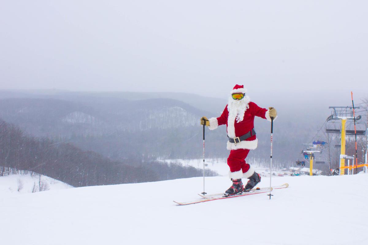 Ski with Santa at Shanty Creek Resorts